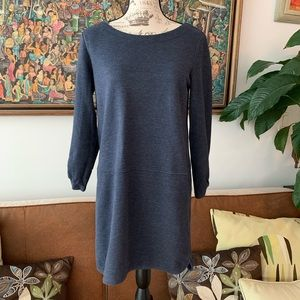 ANN TAYLOR LOFT blue sweatshirt dress M